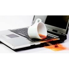 Залит ноутбук? Что делать, если залили ноутбук пивом, чаем, водой, шампанским или еще чем-нибудь?