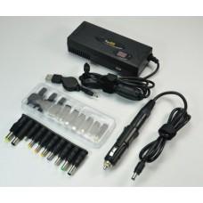 Универсальный сетевой и автомобильный блок питания (адаптер в сеть, авто, самолет) зарядка для ноутбука, нетбука, телефона и цифровой техники 90W