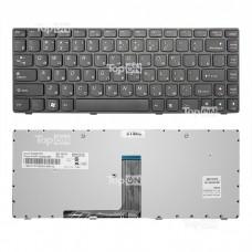 Клавиатура для ноутбука Lenovo B470 G470 V470 Z470 Series. Черная, с черной рамкой.