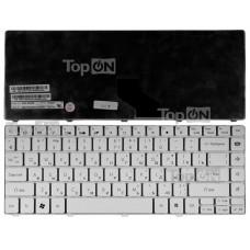 Клавиатура для ноутбука Packard Bell EasyNote NM85, NM87, NX86-JN, NX86-JO, Gateway NV49C Series. Плоский Enter. Белая, без рамки. PN: 6037B0039201.