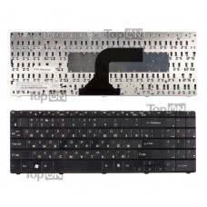 Клавиатура для ноутбука Packard Bell EasyNote ST85, ST86, MT85, TN65 Series. Плоский Enter. Черная, без рамки. PN: MP-07F33SU-528.