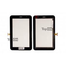 """Сенсорное стекло (тачскрин) для планшета Samsung Galaxy Tab P6200 7.0"""" 1024x600. Оригинал. Черный."""