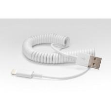 Витой Lightning кабель iOS8  для подключения к USB. Подходит для Apple iPhone 6 Plus, iPhone 6, iPad 4, iPad mini, iTouch 5. Замена: MD818ZM/A Белый