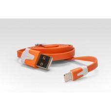 Цветной Lightning кабель iOS8  для подключения к USB. Подходит для Apple iPhone 6 Plus, iPhone 6, iPad 4, iPad min. ОРАНЖЕВЫЙ. Замена: MD818ZM/A