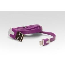 Цветной Lightning кабель iOS8  для подключения к USB. Подходит для Apple iPhone 6 Plus, iPhone 6, iPad 4, iPad min. ФИОЛЕТОВЫЙ. Замена: MD818ZM/A