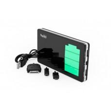 Универсальный внешний мощный аккумулятор для смартфонов, планшетов, цифровой техники, iPhone, iPad на 10000mAh (37Wh) USB 2.1A + USB 1.0A Черный