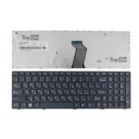 Клавиатура для ноутбука Lenovo B570 B575 B590 G570 V570 Y570 Z570 Series. Черная, с черной рамкой.