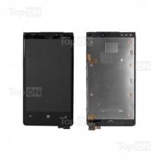 """Матрица и тачскрин (сенсорное стекло) в сборе для смартфона Nokia Lumia 920, дисплей 4.5"""" 768x1280, A+. Черный."""