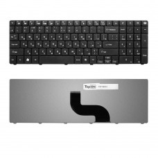 Клавиатура для ноутбука Packard Bell EasyNote TM81, TM86, TM87, TM89 Series. Плоский Enter. Черная, без рамки. PN: AER15U00310, KB.I170G.161.