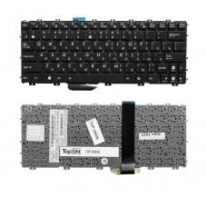Клавиатура для ноутбука Asus Eee PC 1011, 1011B, 1011BX, 1011C, 1011CX, 1011P, 1011PX, 1015, 1015B, 1015BX Series. Черная, с гравировкой, без рамки.