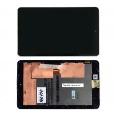 "Дисплей (матрица и тачскрин) для планшета 7.0"" 1280х800, 40 pin, LED, глянец, для  Asus Google Nexus 7, с рамкой."