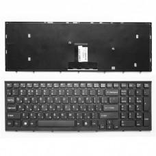 Клавиатура для ноутбука Sony Vaio VPC-EB Series. Плоский Enter. Черная, с черной рамкой. PN: 148792871, V111678A.