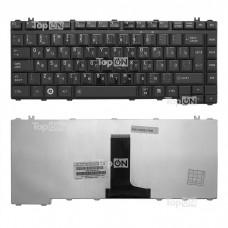 Клавиатура для ноутбука Toshiba Qosmio F50, Satellite A200, A205, A210, A215, A300 Series. Плоский Enter. Черная без рамки. PN: NSK-TAJ01.