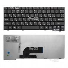Клавиатура для ноутбука Lenovo IdeaPad S10-2, S10-3C Series. Плоский Enter. Черная, без рамки. PN: 25-008466, MP-08F53US-686.