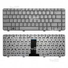 Клавиатура для ноутбука HP Pavilion DV2000, DV2020, DV2040, DV2050, DV2130 Series. Плоский Enter. Серебристая, без рамки. PN: NSK-H520R, 9J.N8682.20R.