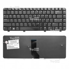 Клавиатура для ноутбука HP Pavilion DV4-1000, DV4-1100, DV4-1200 Series. Плоский Enter. Черная, без рамки. PN: 9J.N8682.901, MP-05583US66.