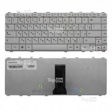Клавиатура для ноутбука Lenovo IdeaPad Y450, Y550A, Y550P, Y560 Series. Плоский Enter. Белая, без рамки. PN: N3S-RU, 25-008291.