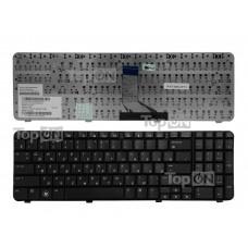 Клавиатура для ноутбука HP Compaq Presario CQ61, G61 Series. Плоский Enter. Черная, без рамки. Русифицированная. PN: 0P6, 0P6A, OP6, NSK-HA60R.