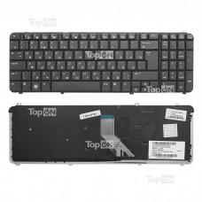 Клавиатура для ноутбука HP Pavilion DV6-1000, DV6-1100, DV6-1200, DV6-1300, DV6-2000 Series. Плоский Enter. Черная, без рамки. PN: UT3A, MP-08A96D0-92