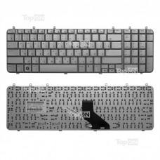 Клавиатура для ноутбука HP Pavilion DV7-1000, DV7-1100, DV7-1200 Series. Г-образный Enter. Серебристая, без рамки. PN: NSK-H840R, 9J.N0L82.20R.
