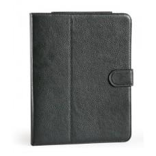 Кожаный чехол и дополнительный аккумулятор, встроенная батарея на 6 часов для планшета Apple iPad,iPad 2,iPad 3 16Gb,32Gb,64Gb WiFi+3G(5400mAh) Черный
