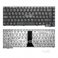 Клавиатура для ноутбука Asus F2, F3, X53, PRO31, T11, Z53 Series. (28pin). Г-образный Enter. Черная, без рамки. PN: K012462A1, 04GNI11KUS00.