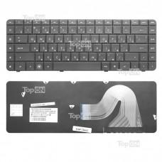 Клавиатура для ноутбука HP Compaq Presario CQ56, CQ62, G56, G62 Series. Плоский Enter. Черная, без рамки. PN: AEAX6U00210, NSK-HV0SQ.