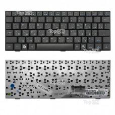 Клавиатура для ноутбука Asus Eee PC 700, 701, 900, 901 Series. Плоский Enter. Черная, без рамки. PN: V072462BS2, 04GN021KRU00.