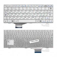 Клавиатура для ноутбука Asus Eee PC 700, 701, 900, 901 Series. Плоский Enter. Белая, без рамки. PN: V072462BS2, 04GN021KRU00.