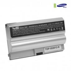 SONY VAIO VGN-FZ Series, VGP-BPS8A VGP-BPS8B VGP-BPL8A VGP-BPL8B, аккумулятор для 11.1V 5200mAh. Серебристый