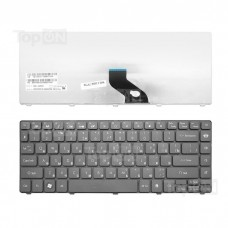 Клавиатура для ноутбука Packard Bell EasyNote NM85, NM87, NX86-JN, NX86-JO, Gateway NV49C Series. Плоский Enter. Черная, без рамки. PN: 6037B0039201.