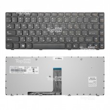 Клавиатура для ноутбука Lenovo B470, G470, V470 Series. Плоский Enter. Черная, с черной рамкой. PN: 9Z.N5TSW.B0R, NSK-B6BSW.