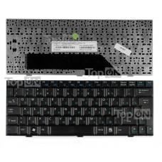 Клавиатура для ноутбука MSI Wind U90, U100, U110, Clevo M1000, DNS 0119849 Series. Плоский Enter. Черная, без рамки. PN: V022340BK1, MP-08A76SU-359.