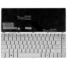 Клавиатура для ноутбука Packard Bell EasyNote NM85, NM87, NX86-JN, NX86-JO, Gateway NV49C Series. Плоский Enter. Белая, без рамки. PN: 6037B0039201.
