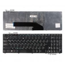 Клавиатура для ноутбука Asus K50, K51, K60, K70, P50, X5, X70 Series. Плоский Enter. Черная, с черной рамкой. PN: MP-07G73RU-5283, V090562BK1.