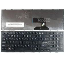 Клавиатура для ноутбука Sony Vaio VPC-EE, VPCEE Series. Г-образный Enter. Черная, с черной рамкой. PN: AENE7700010, 148915581.