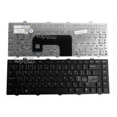 Клавиатура для ноутбука Dell Studio 14z, 1440, 1450 Series. Плоский Enter. Черная, без рамки. PN: NSK-DJC0R, 0P445M.