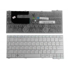 Клавиатура для ноутбука Samsung NC10, N110, N130, N140 Series. Плоский Enter. Белая, без рамки. PN: BA59-02697D, CNBA5902419QBIL.