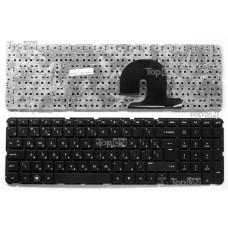 Клавиатура для ноутбука HP Pavilion DV7-4000, DV7-5000 Series. Плоский Enter. Черная, без рамки. PN: NSK-HS0UQ 01, 9Z.N4DUQ.001.