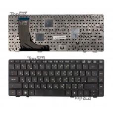 Клавиатура для ноутбука HP ProBook 6360b Series. Плоский Enter. Черная, с черной рамкой. PN: V119030A, 90.4KT07.U0R.