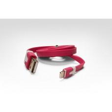 Цветной Lightning кабель iOS8 для подключения к USB. Подходит для Apple iPhone 6 Plus, iPhone 6, Phone 5, iPad 4, iPad min. РОЗОВЫЙ. Замена: MD818ZM/A