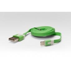 Цветной Lightning кабель iOS8 для подключения к USB. Подходит для Apple iPhone 6 Plus, iPhone 6, Phone 5, iPad 4, iPad min.ЗЕЛЕНЫЙ. Замена: MD818ZM/A