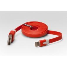 Цветной Lightning кабель iOS8 для подключения к USB. Подходит для Apple iPhone 6 Plus, iPhone 6, Phone 5, iPad 4, iPad min. КРАСНЫЙ. Замена: MD818ZM/A