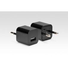 Ультракомпактное зарядное устройство для iPhone, iPod и многих других смартфонов и планшетов. USB 5W (5V 1A). Замена:MD813ZM/A. Черный.