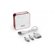 Универсальный внешний компактный аккумулятор для смартфонов, планшетов, цифровой техники, iPhone на 7800mAh (29Wh) USB 1.0A + USB 0.5A КРАСНЫЙ