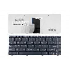 Клавиатура для ноутбука Lenovo G460, G460E, G465 Series. Плоский Enter. Черная, без рамки. PN: 9Z.N5JSN.00R, NSK-B30SN.