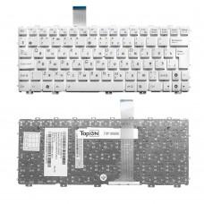 Клавиатура для ноутбука Asus Eee PC X101, X101C, X101H, X101CH Series. Плоский Enter. Белая, без рамки. PN: 04GOA291KUS, MP-10B63SU-5289.