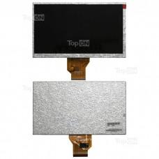 "Матрица для планшета 7.0"" 800x480 50 pin EXPLAYTN-970TVRITMIXRBK-450DIGMA t700TEXETTB-710HD. Замена: AT070TN92 QX070FN01-50NM01M.D058.02.BGСеребряная"