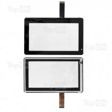 """Сенсорное стекло (тачскрин) для планшета Explay Informer 701 702 703, Ritmix RMD-721 7"""" 800x480.  Оригинал. Черный."""