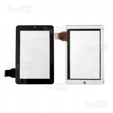"Сенсорное стекло (тачскрин) для планшета Texet TM-7043XD 7"" 1280x800. HLD-GG707S-G-2045A-CP-v00 12 34W.Оригинал. Черный"